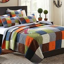 CHAUSUB Handmade Patchwork Quilt Set 3PCS Bedding Washed Cotton ... & CHAUSUB Handmade Patchwork Quilt Set 3PCS Bedding Washed Cotton Quilts Quilted  Bedspread Cover Bed Sheets King Size Coverlets-in Quilts from Home & Garden  ... Adamdwight.com