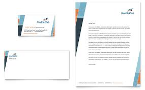 Health Fitness Gym Business Card Letterhead Template