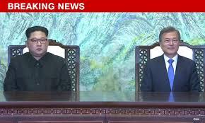 「north-south korea head meet cnn」の画像検索結果