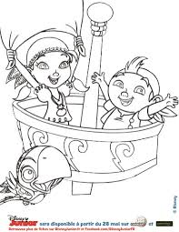 Coloriage Disney Izzy Et De Frise Jake Et Les Pirates Jake