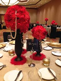 Great Gatsby Centerpiece/ table setting Old hollywood decor