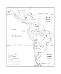 Map Of The World With Cities South America Physical Map Outline
