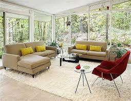 Mid Century Modern Living Room Furniture Beige Shag Rug Design Ideas For Mid Century Modern