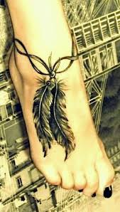 Dream Catcher Tattoo Foot Awesome Breathtaking Feather Tattoo Designs To Get Inspried I
