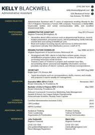 This administrative resume template will make you stand out among others by introducing your professional information in a unique way. 100 Free Resume Templates For Microsoft Word Resume Companion
