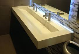 trough style sink bathroom