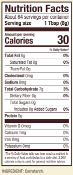 nutritional information ings cornstarch
