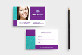 Appointment Card Template Dental Clinic Appointment Card Template In Psd Ai Vector