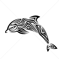 Free Dolphin Tattoo Vector Image 1459388 Stockunlimited