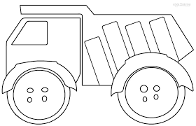 Dump Truck Coloring Pages Free Great Free Clipart Silhouette