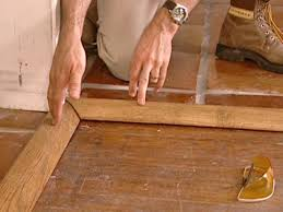 wood trim is attractive transition between floors