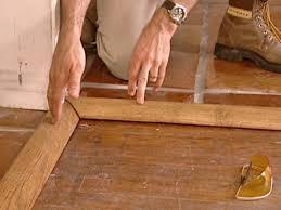 wood trim is attractive transition between floors