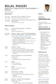 Director Of Photography Freelance Resume samples