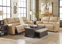 planet real beige leather motion reclining sofa couch set living room furniture