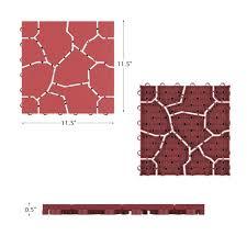 deck tile flooring in brick red