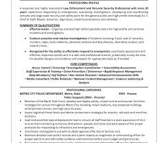 Police Officer Resume Examples Law Enforcement Officer Resume Sample Fishingstudio 44