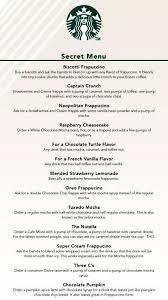 starbucks secret menu. Wonderful Menu Starbucks Secret Menu Intended