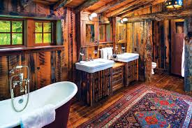 Rustic bathroom design Interior Architecture Pearson Design Group Construction Yellowstone Traditions See The Whole House Here Rustic Fourcabin Family Enclave Veniceartinfo 10 Cozy And Rustic Bathroom Designs