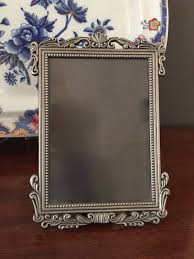 reserve maggie pewter photo frame 5 x 7 pewter art nouveau style picture frame easel back gift idea
