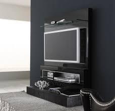 Black Wall Mounted TV Design