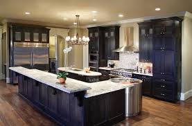 black kitchen cabinets with white marble countertops.  Kitchen Contemporary Maple Kitchen Cabinets In Black With White Quartz Countertop  And Knobs Also Silver Metal Flat Pulls Throughout Marble Countertops C