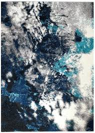 gray blue abstract area rug 8 x 10 2