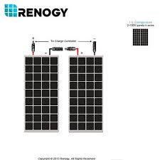 renogy 200w solar panel pv off grid rv boat 2pcs 100w 12 volt mono renogy 200w solar panel pv off grid rv boat 2pcs 100w 12 volt mono cells charger