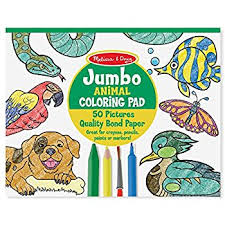 Melissa Doug Jumbo Coloring Pad Animals Melissa