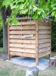 diy outdoor shower enclosure plans