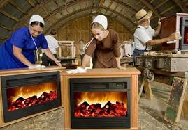 Dept Of Disbelief Free Amish Fireplace  Apartment TherapyAmish Fireless Fireplace