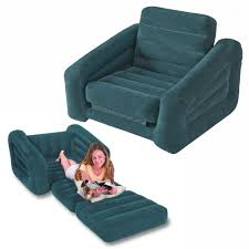 chair intex one person inflatable pull out chair bed sofa bed 68565 with single sofa