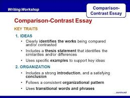 writing workshop expository writing comparison contrast essay  comparison contrast essay