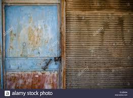 garage door texture. Rusty Door Texture Of An Old Garage And Wall