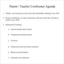 parent teacher conference letters parent teacher letter templates meeting template conference forms