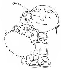 Small Picture Agnes And Her Pet Despicable Me Coloring Pages Cartoon Coloring
