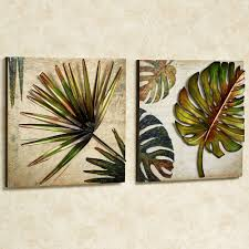... Tropical Impressions Three Dimensional Wall Art Set Green Set Of Two  Vintage Classic Design Leaf Awesome ...