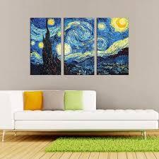 starry night vincent van gogh multi panel canvas wall art  on large multi panel canvas wall art with starry night vincent van gogh multi panel canvas wall art mighty