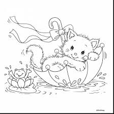 Christmas Cats Coloring Pages For Kids Printable Coloring Page For