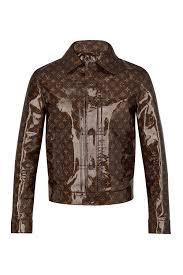 ready to wear leather monogram glaze jacket louis vuitton
