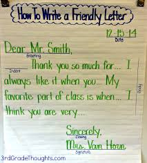 Friendly Letter Format Writing A Letter Format For First Graders