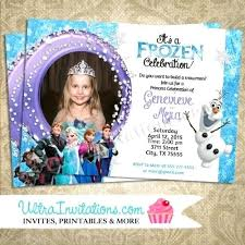 Frozen Birthday Card Sayings Party Invitation Wording Ideas