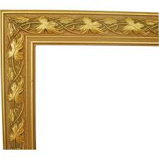 wood picture frames. 1 Of 2 Wood Picture Frames Gold \u0026 Green For Paintings Prints : Coyote Moon Antiques | Ruby Lane C