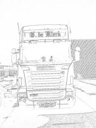 50 Vrachtwagen Kleurplaat Scania Kleurplaat 2019