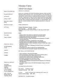 Sap Sd Consultant Resume Sample Sap Consultant Resumes Sample Resume