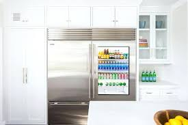 sub zero 601rg glass door refrigerator with freezer drawer transitional kitchen side by refrigerators