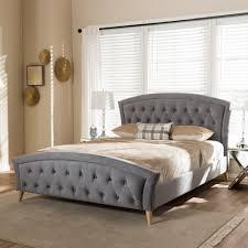 upholstered bed grey. Baxton Studio Hannah Gray King Upholstered Bed Grey Y