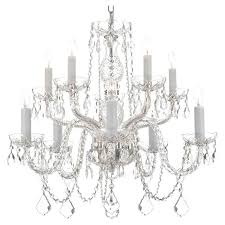 harrison lane 10 light crystal chandelier