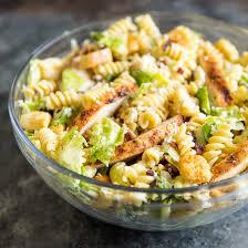 this en caesar pasta salad has cajun en bacon and an easy homemade dressing