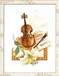 Musical Instruments   Cross stitch music, Cross stitch cards, Violin art