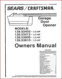 amazing sears craftsman garage door opener manual pics of garage idea